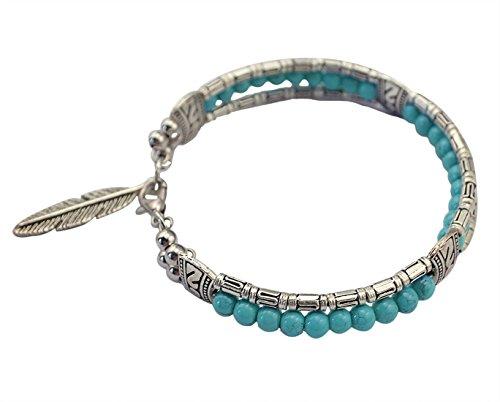 Idealway Vintage Turquoise Colorful Bracelet