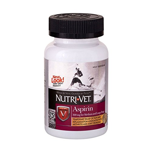 Nutri Vet  K 9 Aspirin 300Mg Chewables For Medium And Large Dogs   75 Count