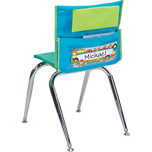 Early Childhood Deluxe Chair Pocket, Teal - Set Of 36 by Really Good Stuff
