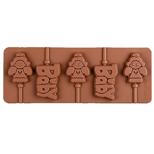 Angel Shape Chocolate Mold 5 Cups Cake Mould Silicone Diy Cooks Evenly ,cools Quickly Great For Christmas, Parties, Wedding, Birthday, Celebrations, Etc. (Mickey Halloween Party 2017 Map)