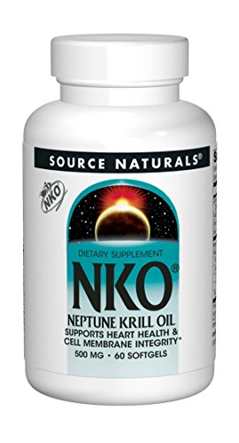 Neptune Krill Oil 1000mg per Serving, Supports Heart Health and Cell Membrane Integrity, 60 500mg Softgels ()