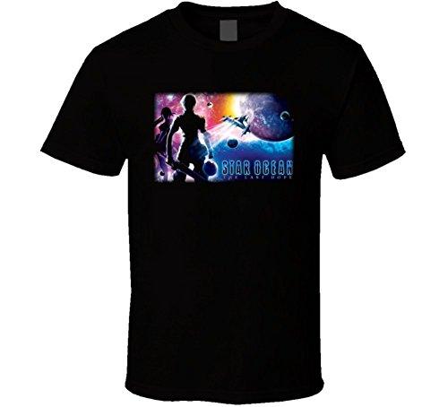 Star Ocean Second Evolution Rpg Video Game T Shirt L Black