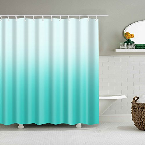 Cugap Mildew Resistant Anti-Bacterial Elegant Design Bathroom Shower Curtain Polyester Fabric Waterproof With 12 Hooks by Cugap