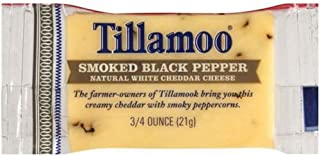 product image for Tillamook Smoked Black Pepper White Cheddar Cheese, 0.75 Ounce -- 100 per case.