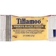 Tillamook Smoked Black Pepper White Cheddar Cheese, 0.75 Ounce - 100 per case.