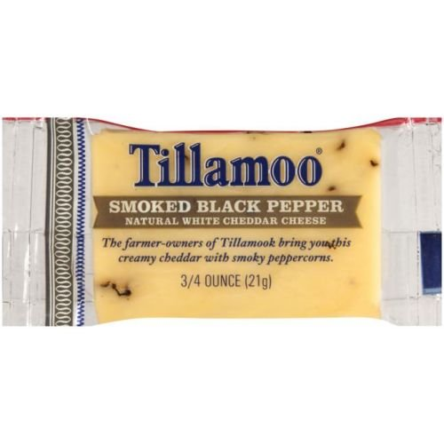 Tillamook Smoked Black Pepper White Cheddar Cheese, 0.75 Ounce - 100 per case. by Tillamook