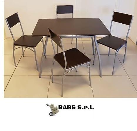 Bars Easyshop Offerta Set Tavolo e 4 Sedie da Giardino Legno ...