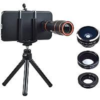Apexel Optical Phone Camera Lens Kit 12X Manual Focus Telescope Camera Lens and Wide/Fisheye/Macro Lens with for Samsung Galaxy S6 Edge Plus