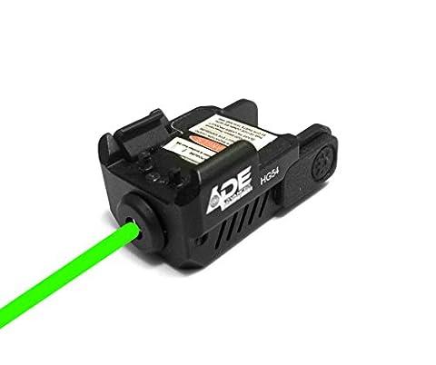 Ade Advanced Optics HG54G Strobe Laser Sight for Pistol Handgun, Green (Green Dot Laser For Gun)