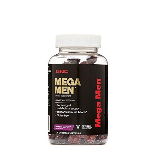 GNC Mega Men Gummy Multivitamin - Mixed Berry 120ct