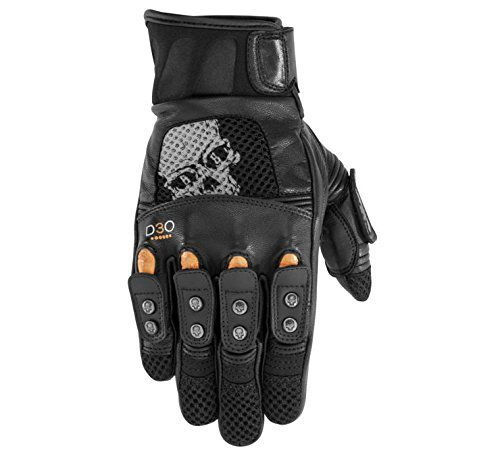 (Black Brand Mirror Buster On-Road Motorcycle Gloves - Black /)