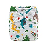 Alva Baby Cloth Diaper One Size Adjustable Reuseable Washable Baby Nappy Diapers One Pack with 2 Inserts (H147, All in one)