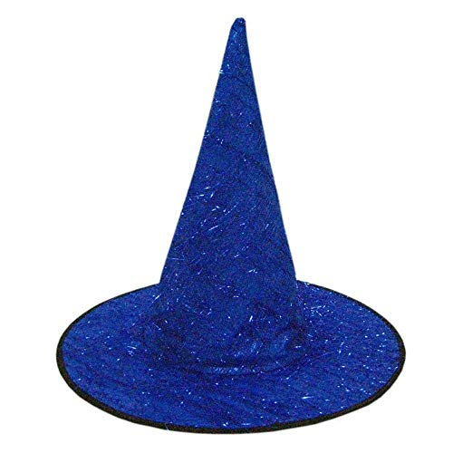 Hot Sales!! ZOMUSAR Adult Womens Mens Witch Hat for Halloween Costume Accessory Fluff Solid Cap (Blue)