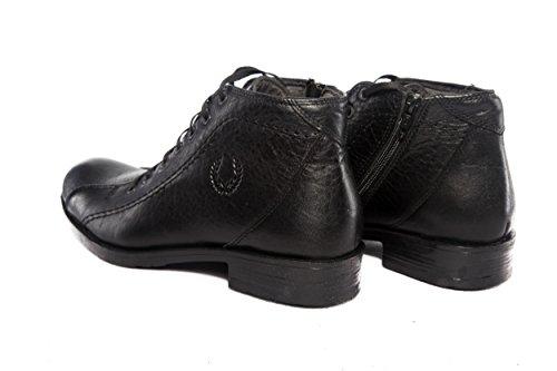Herren Echt Leder Business Stiefel Schwarz Handgefertigt (SW010)