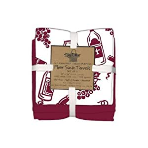 Kay dee designs wine flour sack towels set of Kay dee designs kitchen towels