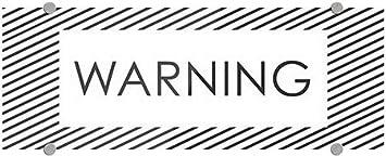 CGSignLab 8x3 Warning 5-Pack Stripes White Premium Brushed Aluminum Sign