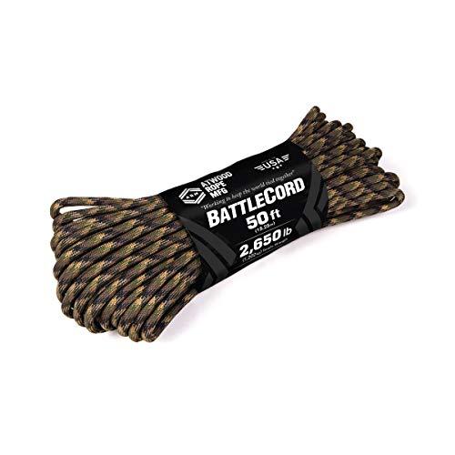 Atwood Rope MFG 5.6MM BattleCord 50 Feet - 2650lb Tensile Strength (Groundwar, 50)