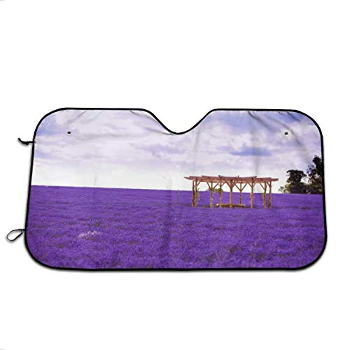 FKCUYPL Windshield Lavender Car Sun Shade for Trucks 27.5 X 51 Inch-Keeps Your Car Cool