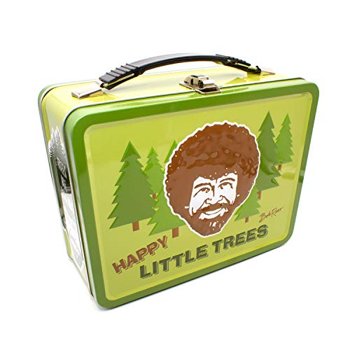 Aquarius Bob Ross Happy Tree Large Gen 2 Tin Storage Fun Box Multicolor, 8″