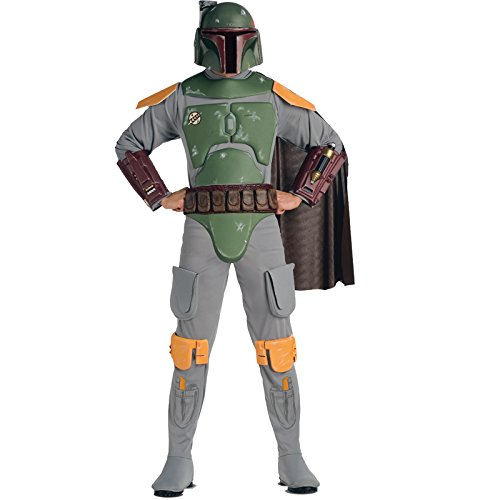 Leprechaun Movie Halloween Costumes (Star Wars Boba Fett Deluxe Adult Costume Standard)