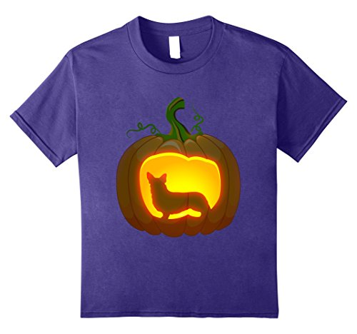 Kids corgi Halloween shirt 12 Purple