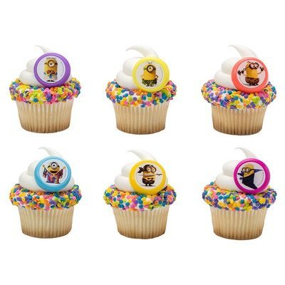 Despicable Me Minions Evolution Cupcake Rings - 24 pc -