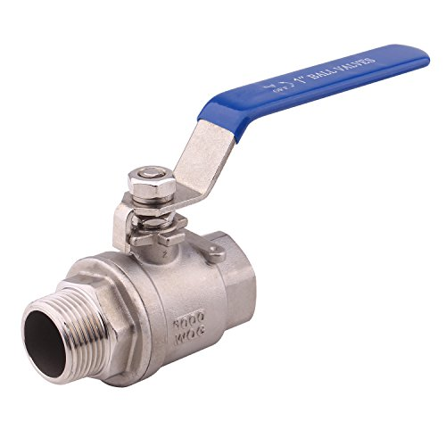 Dernord Full Port Ball Valve 1 Inch - Male x Female Stainless Steel 304 Heavy Duty for Water, Oil, and Gas,1000WOG (1 Inch NPT)