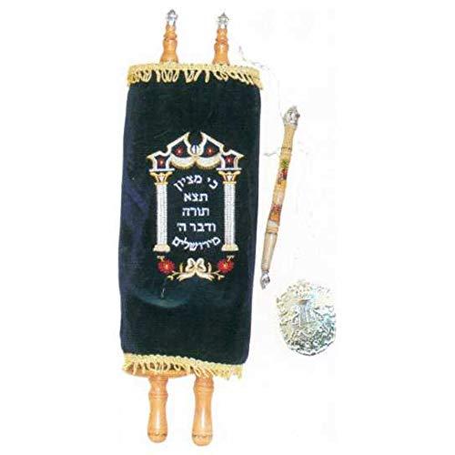 Jewish Essentials Children's Torah Scroll Replica - 22 in Blue, Black, Toy