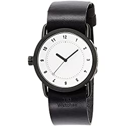 TID watch designer watch leather pull through TID01-36WH / BK men's [regular imported goods]