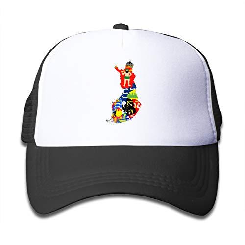 Finnish Regions' Coat of Arms Adjustable Children's Mesh Hat Cap Baseball Trucker Cap (Finnish Of Arms Coat)