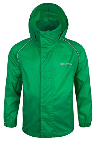 Mountain Warehouse Pakka Kids Waterproof Rain Jacket Girls Boys Toddlers Green 11-12 years