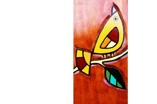 """Wooden cross wall decor: Two Birds - Handmade - 20"""" Approx."""