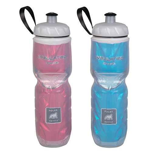 561732d5d2 Polar Bottle Insulated Water Bottle - 24 oz, Red / Blue, 2-Pack