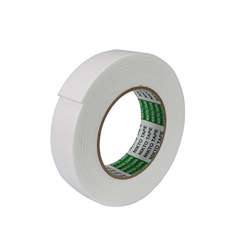 So-myshtech Double Sided Foam Tape PE Sponge Tape White (40MM1PCS) (Pe Foam)