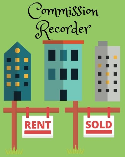 """Commission Recorder: For Realty Company, Large Size (8""""x10""""), Simple and Helpful for Agent and Broker (Volume 3) PDF"""