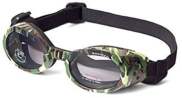 Doggles ILS Dog Goggles UV Sunglasses ALL SIZES Eye Protection Lens Shades New (Doggles ILS Goggles/Sunglasses, Medium, Green Camo)