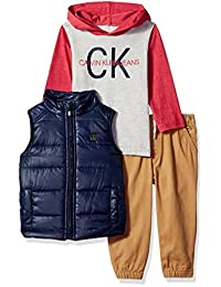 Calvin Klein Conjunto de 3 Piezas de Chaleco con Capucha para niños