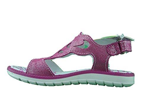 PRIMIGI 7615100 sandali scarpe bambina velcro scamosciato brinato lampone