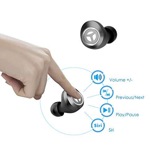 602bee75ec5 TRANYA Bluetooth 5.0 Deep Bass True Wireless Headphones, T2 Sports Wireless  Earbuds, 40 Hours