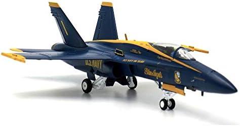 1/72スケール航空機モデル、軍事米国ブルーエンジェルF/A-18C戦闘機モデル、アダルトグッズ、9.3Inch X 6.3In