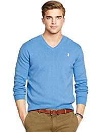 Polo Ralph Lauren Men V-Neck Pima Cotton Pony Logo Sweater