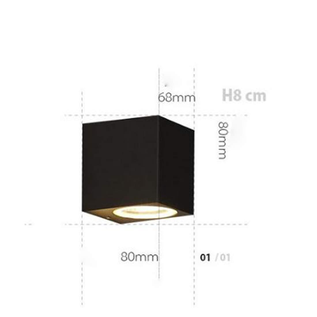MAGAI Downlight LED fissato al Muro di Progettazione Quadrata Leggera Impermeabile della Parete per Le pareti all'aperto, i Garage, i Passi carrai, i pati