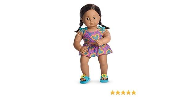 NEW American Girl Bitty Baby Twins Doll Tankini Swimsuit swim suit Flower Hearts