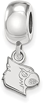 925 Sterling Silver Rhodium-plated Laser-cut University of Florida XS Dangle Bead Charm