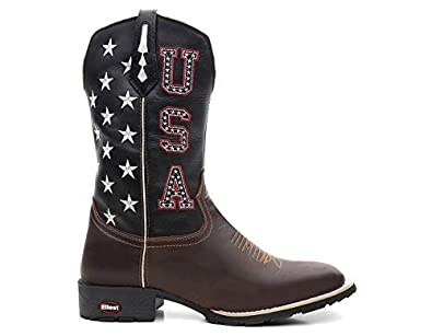 67132a4b1 Bota Texana White Stars USA  Amazon.com.br  Amazon Moda