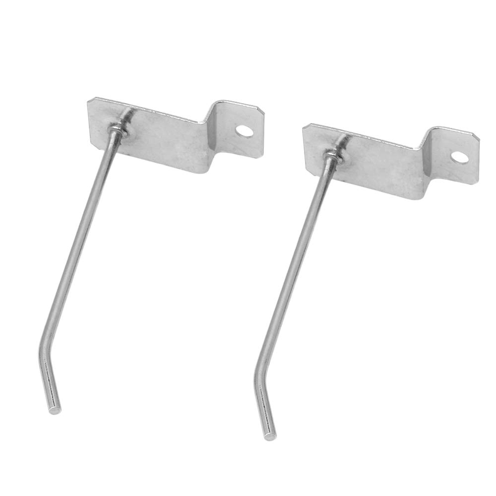 CNBTR Silver Stainless Steel 100mm Long 3.2mm Dia Slatwall Pin Arm Fitting Prong Hanger or Shop Display Home Improvement Pack of 25