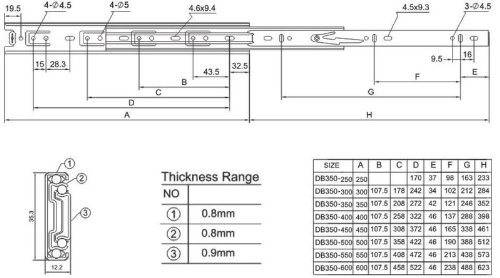 16 Inch 75 Lb Full Extension Ball Bearing Drawer Slides 20 Pair Pack by Quantum Hardware (Image #2)
