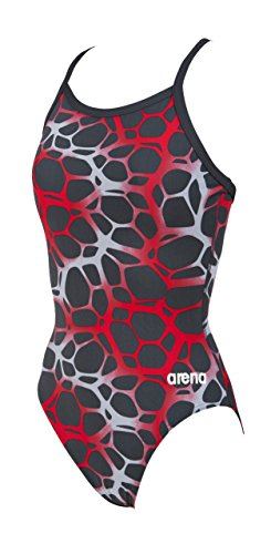 Girl's G polycarbonite jr one piece, Asphalt/Multicolor, 24