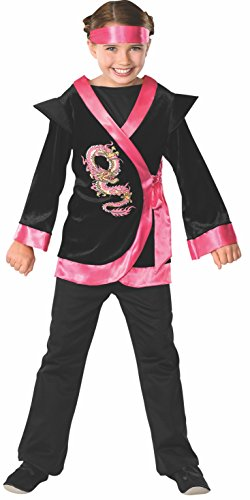 Child's Pink Dragon Ninja Costume, (Asian Men Halloween Costume Ideas)