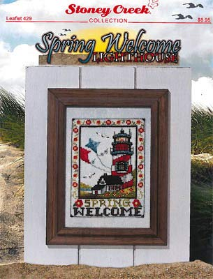 Spring Welcome Lighthouse Cross Stitch Chart